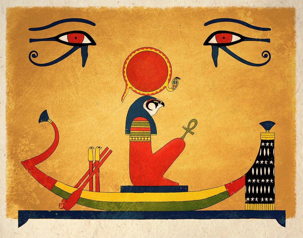 Egyptian god Amun- Ra